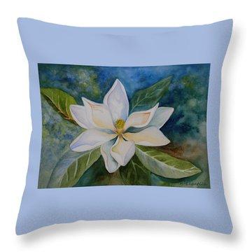 Magnolia Throw Pillow by Kerri Ligatich
