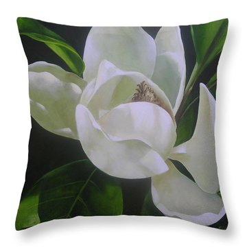 Magnolia Light Throw Pillow