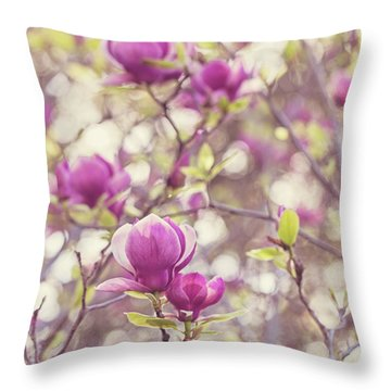 Throw Pillow featuring the photograph Magnolia by Melanie Alexandra Price