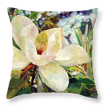 Magnolia Melody Throw Pillow