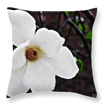 Magnolia Memories 1 Throw Pillow by Sarah Loft