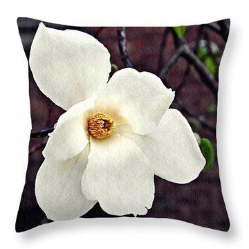 Magnolia Memories 2 Throw Pillow by Sarah Loft