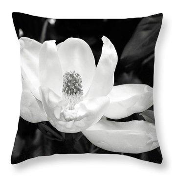 Magnolia Memories 3- By Linda Woods Throw Pillow