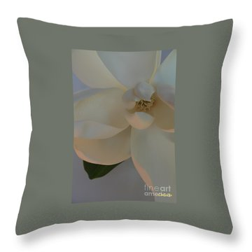 Moody Magnolia  Throw Pillow