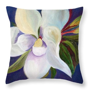 Magnolia Painting Throw Pillow