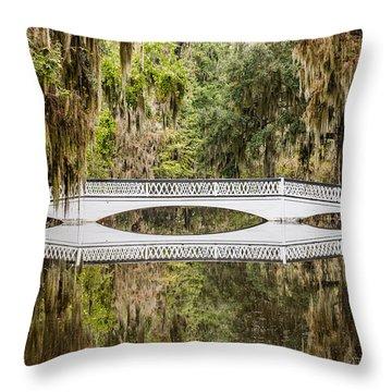 Magnolia Plantation Gardens Bridge Throw Pillow
