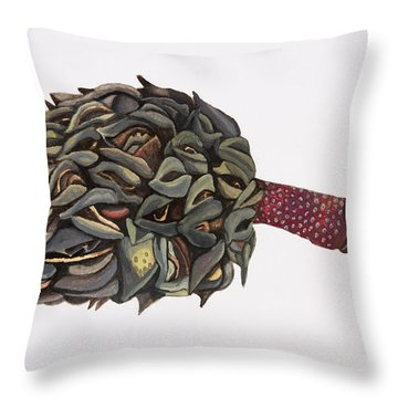 Magnolia Seedpod Throw Pillow