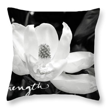 Magnolia Strong- By Linda Woods Throw Pillow