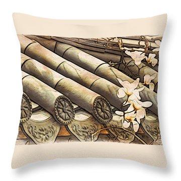 Magnolia Tiles Throw Pillow