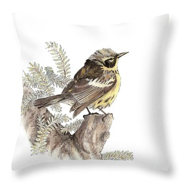 Magnolia Warbler Throw Pillow