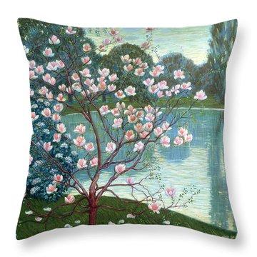 Magnolia Throw Pillow by Wilhelm List