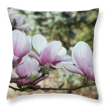 Magnolias #3 Throw Pillow