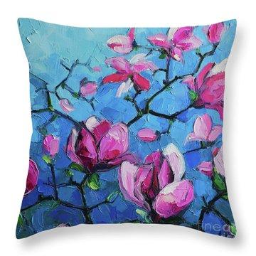 Magnolias For Ever Throw Pillow