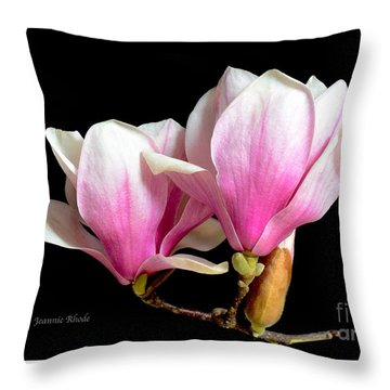 Magnolias In Spring Bloom Throw Pillow