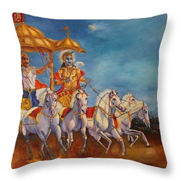 Mahabharat Throw Pillow