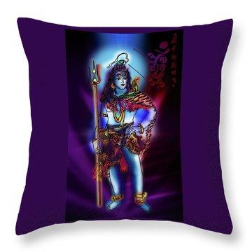 Maheshvara Sadashiva Throw Pillow