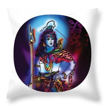 Maheshvara Shiva Throw Pillow