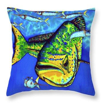Mahi Mahi And Ballyhoo Throw Pillow