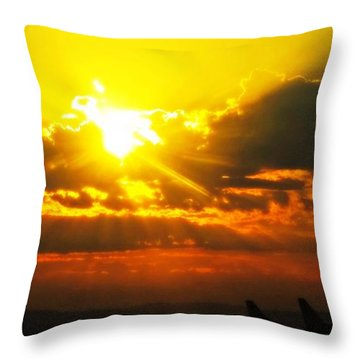 Mahlon Sweet Sunset Throw Pillow by Mindy Bench