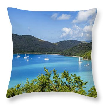 Throw Pillow featuring the photograph Maho And Francis Bays On St. John, Usvi by Adam Romanowicz