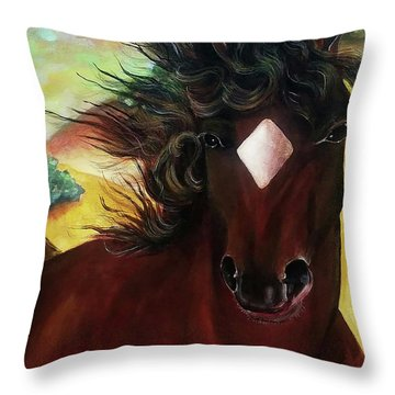 Mahogany  Throw Pillow