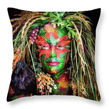 Maiden Of Earth Throw Pillow