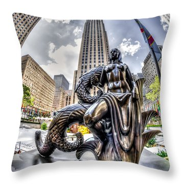Throw Pillow featuring the photograph Maiden by Rafael Quirindongo