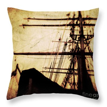 Maiden Voyage Throw Pillow by Andrew Paranavitana