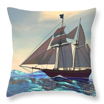 Maiden Voyage Throw Pillow by Corey Ford