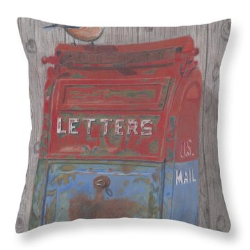 Mail Call Throw Pillow by Arlene Crafton