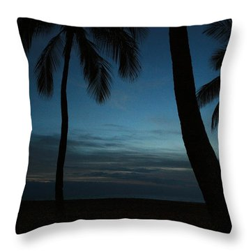 Ma'ili Beach After Sunset Throw Pillow