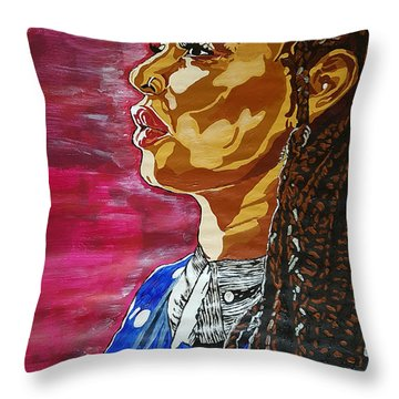 Maimouna Youssef Throw Pillow by Rachel Natalie Rawlins