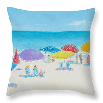 Main Beach East Hampton  Throw Pillow