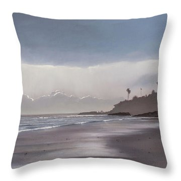 Main Beach Reflections Throw Pillow