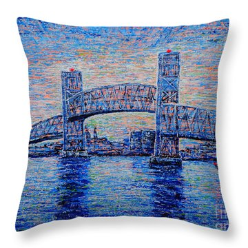 Main St.bridge,#2 Throw Pillow