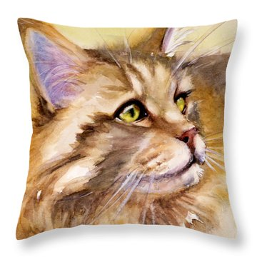 Main Coon Throw Pillow