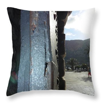 Main Gate Of Kotor Throw Pillow