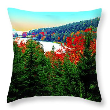 Throw Pillow featuring the photograph Maine Long Pond Acadia  by Tom Jelen