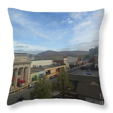Main St To The Mountains   Throw Pillow