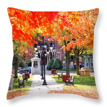 Main Street In The Fall Throw Pillow