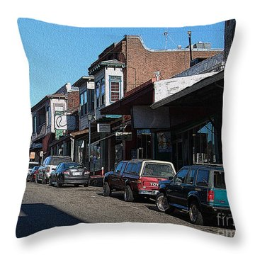 Main Street Jackson City Throw Pillow