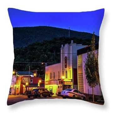 Main Street Lights Throw Pillow by Dale R Carlson