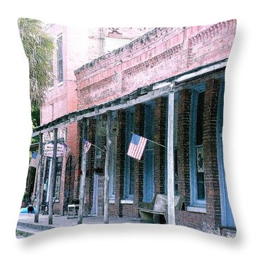 Main Street Micanopy Florida Throw Pillow