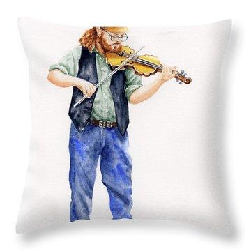 Main Street Minstrel 1 Throw Pillow
