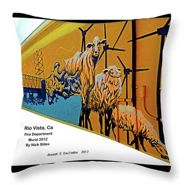 Main Street -  Nick Stiles Throw Pillow