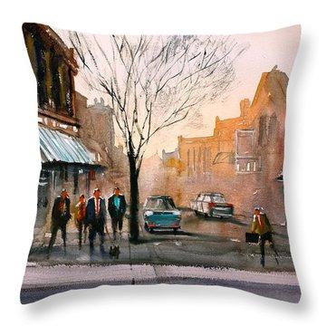 Main Street - Steven's Point Throw Pillow by Ryan Radke