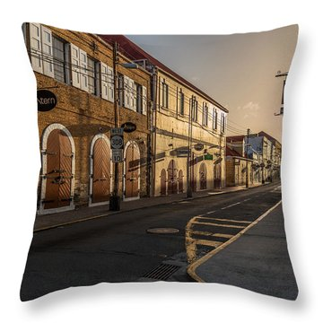 Main Street Sunday Throw Pillow