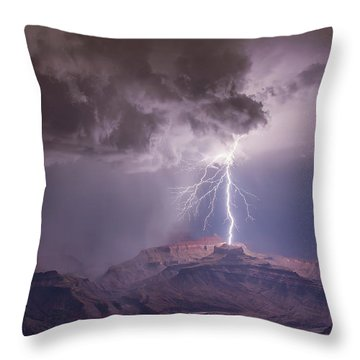 Main Strike Throw Pillow