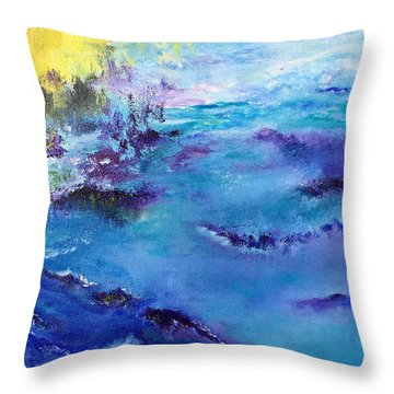 Maine Coast, First Impression Throw Pillow