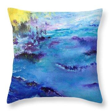 Maine Coast, First Impression Throw Pillow